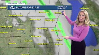 A mild Monday ahead with scattered showers likely