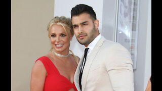 Sam Asghari jokes he and Britney Spears have been celebrating her birthday 'for a month'