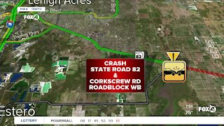 Serious crash on SR 82 and Corkscrew Road
