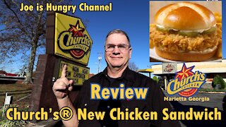 Church's New Chicken Sandwich Review | Original Church's® Chicken | Joe is Hungry 🐓🥪🐔🥪🐓🥪🐔