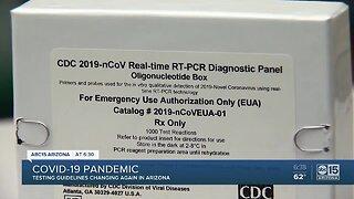 Testing guidelines change again in Arizona