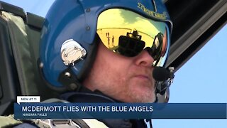 Bills coach takes flight with The Blue Angels
