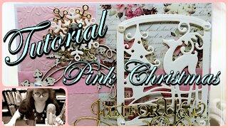 DIY Christmas Card Tutorial - Pink Christmas Cards