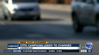 Louisville makes road changes to improve safety
