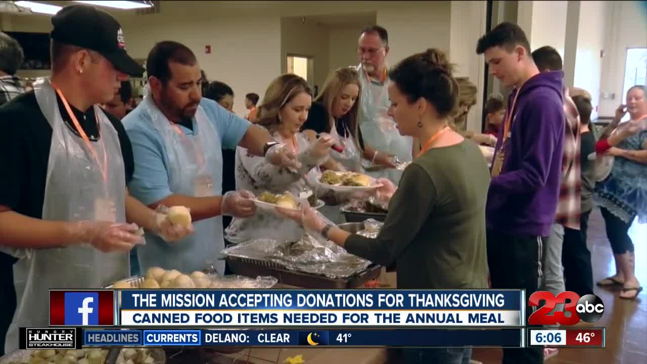 Mission Accepting Donations for Thanksgiving