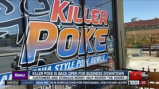 Killer Poke is back open for business in Downtown Bakersfield