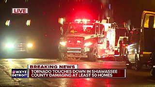 Tornado touches doen in Shiawassee County, damaging at least 50 homes