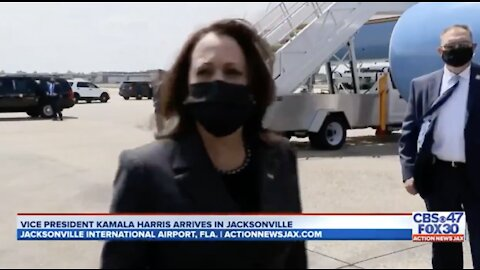 Kamala Harris Laughs When Asked if She Plans to Visit the Border: 'Not Today'