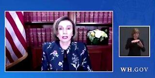 Bílý dům přerušil živý přenos Joe Bidena, když měl odpovídat na dotazy zřejmě opilé Nancy Pelosi!
