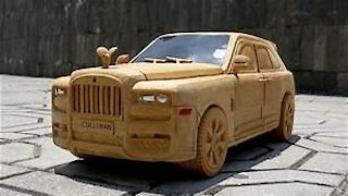 Rolls Royce Cullinan - Wooden Car - Amazing Woodworking Techniques