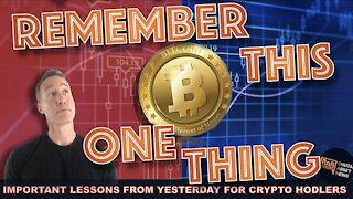 THE ONE IMPORTANT LESSON FROM YESTERDAYS BITCOIN & CRYPTO CRASH