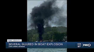 Boat explosion injures several people in Georgia