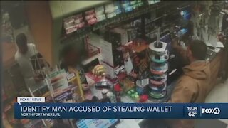 Man accused of stealing wallet