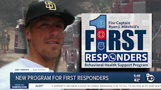 New behavioral health program for first responders unveiled
