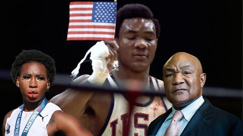 """GEORGE FOREMAN """"SHATTERS"""" Gwen Berry's America Narrative! Former Boxing Champ is a PATRIOT!"""
