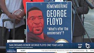 San Diegans honor George Floyd one year after his death