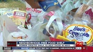 Neighborhood free food shelf