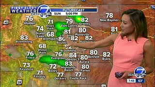 Scattered late-day storms expected Sunday