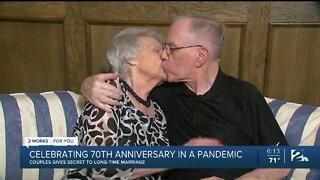 Oklahoma couple celebrates 70th wedding anniversary amid pandemic