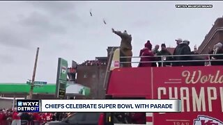 Fisher reprises beer celebration at Chiefs Super Bowl parade