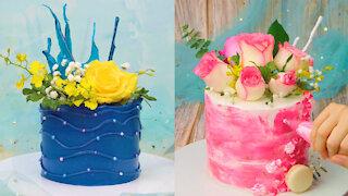 DIY Cake Decorating With Flower   Amazing Flower Cake Decoration Compilation