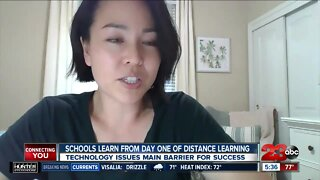 School learning from first day of distance learning