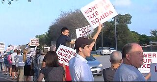 Rally over tax rates in St. Lucie County