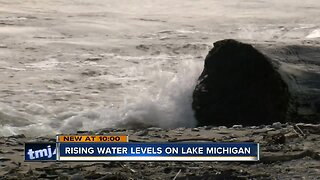 Lake Michigan water levels continue to rise