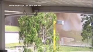 Video shows gas line explosion on Florida Turnpike