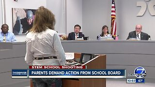 Parents demand action from school board after shooting