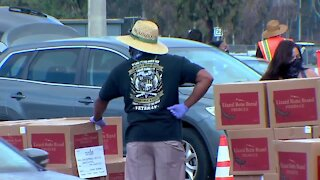 Feeding San Diego volunteers work to help local families