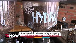 Study: Drinking alcohol, coffee may help you live longer