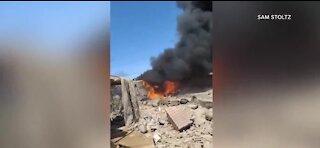 Pilot dead in crash near Nellis Air Force Base in Las Vegas