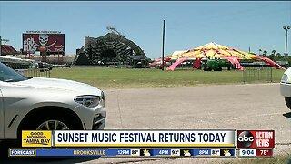 Sunset Music Festival returns to Raymond James today