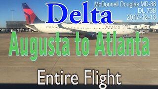 Entire flight: Delta airlines, Augusta to Atlanta #DL738