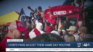 Chiefs fans adjust their game day routine