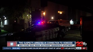 Two suspect arrested in connection to homicide