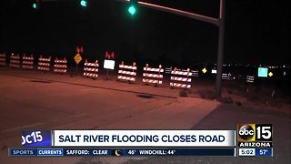 Salt River flooding closes roads