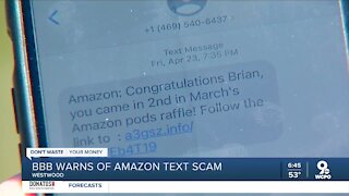 BBB warns of Amazon text scam