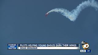 Pilots helping young eagles earn their wings