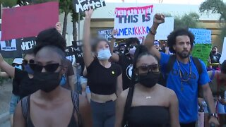 Peaceful protesters gather in Scottsdale