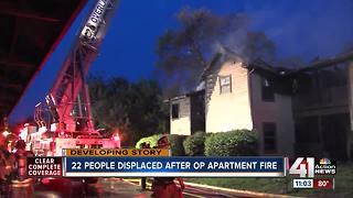 22 people displaced after Overland Park apartment fire