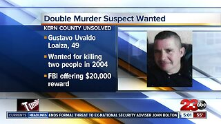 Double muder suspect wanted for 2004 killing