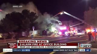 2-alarm fire in Downtown Las Vegas