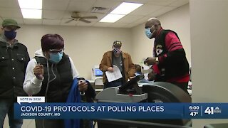 COVID-19 protocols at polling places
