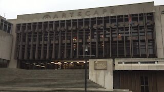 SOUTH AFRICA - Cape Town - Stock - Artscape Theartre Centre Exterior (Video) (yUJ)