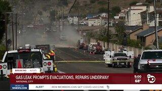 National City gas leak prompts evacuations
