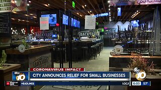 City working to provide relief for San DIego's small businesses
