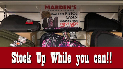 Stock Up while you can!! ~ Prepper Supplies at Marden's
