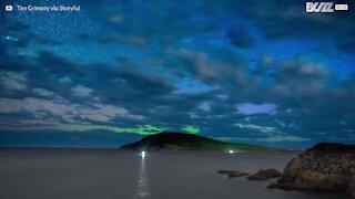 Time-lapse: i colori incredibili dell'aurora australe